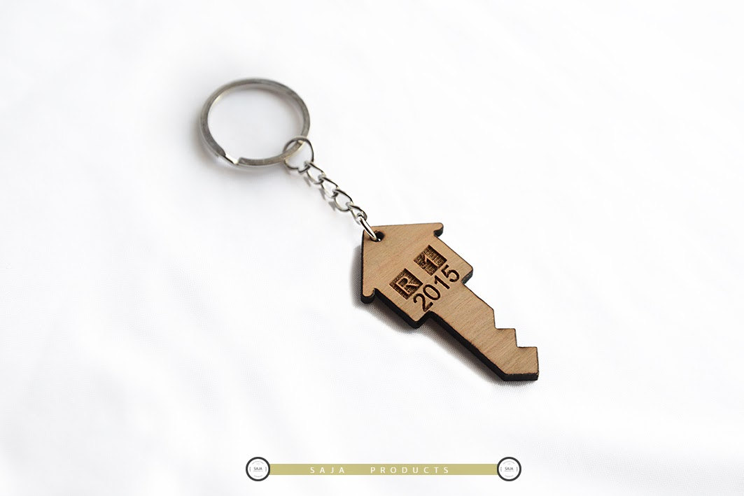 Home style Key chain with custom engrave  b4b0a85355b4